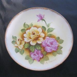 Vtg Decorator Plate Signed S Takagi Hand Painted
